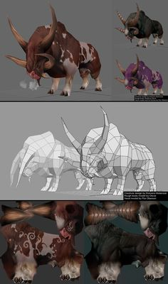 Low poly and textures creature 3d Model Character, Character Modeling, Character Concept, Character Art, Concept Art, Character Design, Wireframe, Zbrush, Game Design