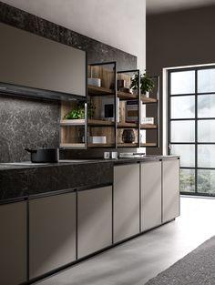 kitchen 2019 on Behance Kitchen Room Design, Kitchen Sets, Modern Kitchen Design, Interior Design Kitchen, Modern Kitchens, Living Room Tv Unit Designs, Diy Kitchen Storage, Interiores Design, Kitchen Furniture