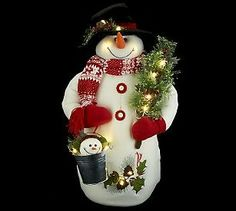 Bethlehem Lights Battery Op. 24: Large Snowman with Timer from QVC.  Get your rebate from RebateBlast.