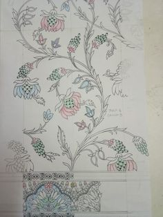 Zardozi Embroidery, Hand Work Embroidery, Embroidery On Clothes, Embroidery Motifs, Textile Patterns, Textile Design, Fashion Illustration Tutorial, Pattern Art, Pattern Design