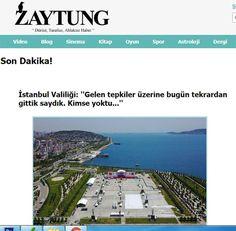 Zaytungdan İstanbul Valiliğine Gönderme