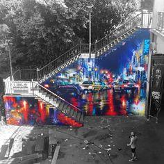 """Dank - Dan Kitchener z Londynu - Frankfurt, Niemcy, 2017 Polubienia: 1,406, komentarze: 19 – Dan Kitchener (@dankitchener) na Instagramie: """"Wiesbaden / Frankfurt - 'Meeting Of Styles Germany 2017' - Here's my finished wall for the amazing…"""""""