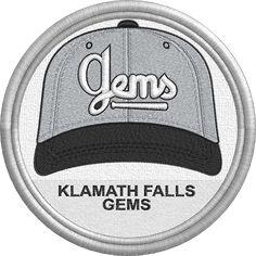 Klamath Falls Gems cap hat logo - uniform - sports logo - Golden State Collegiate Baseball League - Minor League Baseball - MiLB Created by Jackson Cage West Coast College, Klamath Falls, Minor League Baseball, Sports Logo, Golden State, Caps Hats, Cage, Jackson, Baseball Hats