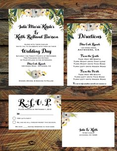 Fall Botanical Weding Invitation Suite by RAWkonversations on Etsy