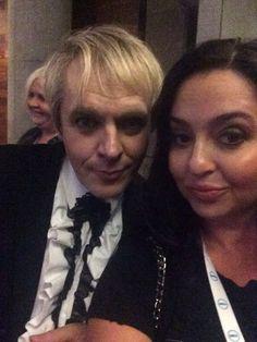 No one serves #selfie like Nick Rhodes, The Headmaster!  Duran Duran meet up!
