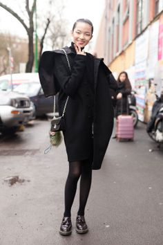 The NYC Streets / CHINESE IMG MODEL XIAO WEN JU IN BABYGHOST AFTER FENDI MFW FW14.