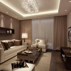 Luxury living room interior design by Small Living Rooms, Living Room Modern, Home Living Room, Interior Design Living Room, Living Room Designs, 3d Interior Design, 3d Design, Paper Design, Apartment Living