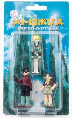 Metropolis Figure 3pc Set Color Ver. Tezuka Osamu Cominica JAPAN ANIME MANGA