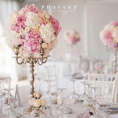 Wedding flowers arrangement. Santorini Weddings, Wedding venue, Wedding ceremony and reception, Sunset view.