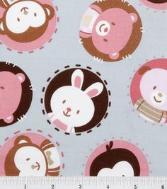 Nursery Fabric-Argyle Animals Toss: nursery fabric: fabric: Shop | Joann.com