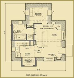 The Applegate Straw Bale Cottage provides a beautiful home in a smaller footprint. Downsize into a mortgage free straw bale house you can build yourself. Cob House Plans, Small House Floor Plans, Tiny House Blog, Tadelakt, Cottage Plan, Tiny Spaces, Little Houses, Tiny Houses, House Layouts
