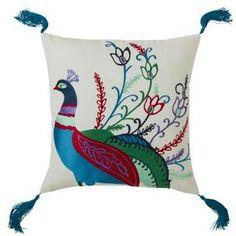 Boho Boutique Tahiti Peacock Pillow