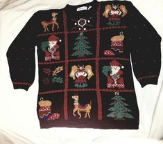Sale Tacky Ugly Christmas Sweater jumper can fit women M / L men S / M free holiday gift Holiday Sweaters, Holiday Socks, Ugly Christmas Sweater, Holiday Gifts, Ugly Sweater, Jumper, Christmas Light Bulbs, Being Ugly, Fit Women