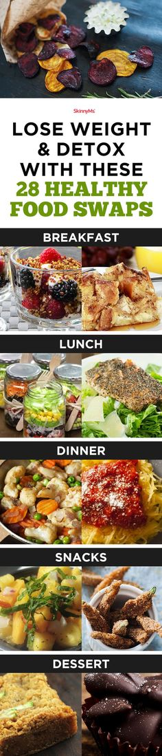 Lose Weight & Detox With These 28 Healthy Food Swaps