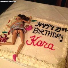 51 Ideas birthday cake drunk barbie funny for 2019 Drunk Barbie Cake, Barbie Birthday Cake, 21st Birthday Cakes, Happy 21st Birthday, Girl Birthday, Funny Birthday, Birthday Sayings, Happy Birthdays, Birthday Images