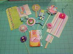 Sweet treat loaded envelope embellishments