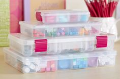 Short on space? Our storage cases aren't just cute, they're completely functional with adjustable compartments and secure latch closure. Find your next Creative Options solution at Walmart.