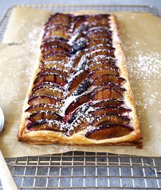 Cream Cheese Plum Tart | thekitchenpaper.com