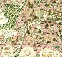 Paris map for office discovered through Creature Comforts blog. $38