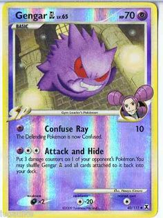 Pokemon Card Rising Rivals Reverse Holo Gengar GL 40/111 FREE combined Shipping