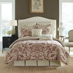 Bedding Sets You'll Love in 2020 Croscill Bedding, Damask Bedding, Luxury Bedding, Fantasy Bedroom, Best Bedding Sets, Queen Comforter Sets, Bedding Collections, Home And Living, Home Remodeling