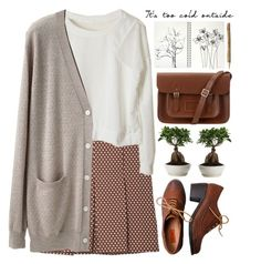"""It's too cold outside."" by evangeline-lily ❤ liked on Polyvore featuring Marni, Miz Mooz, Organic by John Patrick and The Cambridge Satchel Company"