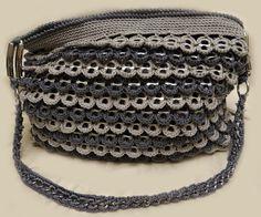 Gray Crochet Bag Soda Can Tab. $75.00, via Etsy.