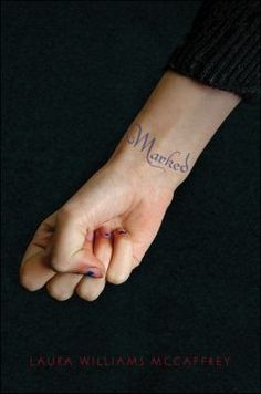Marked by Laura Wililams McCaffrey (YA FIC Mccaffrey). Sixteen-year-old Lyla lives in a bleak, controlling society where only the brightest and most favored students succeed. When she is caught buying cheats in an underground shadow market, she is tattooed--marked--as a criminal. Then she is offered redemption and she jumps at the chance, but it comes at a high cost, and doing what is right means betraying the boy she has come to love