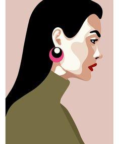 Mathilde CRETIER, Illustrations for the Virginie agency Abstract Portrait, Portrait Art, Portraits, Illustrations, Illustration Art, Posca Art, Mini Canvas Art, Arte Pop, Art Drawings Sketches