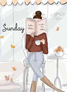 Bon Weekend, Hello Weekend, Weekend Days, Weekend Vibes, Reading Art, Girl Reading, Sunday Rose, Autumn Rose, Digital Art Girl