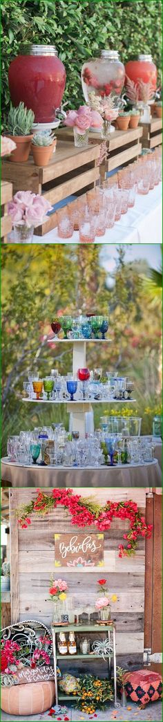 rustic wedding drink station decor ideas #weddings #weddingideas #weddinginspiration