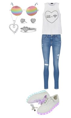 """Untitled #26"" by ellamcconnell2005 on Polyvore featuring Frame Denim, Ally Fashion, David Yurman, Fremada and Cutler and Gross"