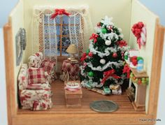 1/48 scale christmas room boxes.