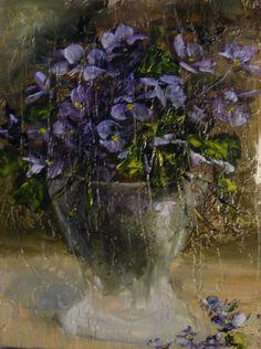 Violete in vas de sticla