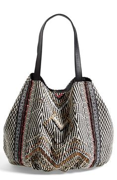 Street Level Beaded Tote (Juniors) available at #Nordstrom