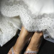 A disadvantage of a floor-length wedding gown is that you are very likely to have dirt on the hem when the event is over. Lace is a delicate material that requires special care, but cleaning the hem of your wedding dress at home is economical and allows you to store the gown clean. Knowing how to clean a lacy wedding dress allows you to wear a...