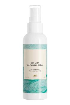 Salt water spray: A salt water spray that adds body and texture for a natural, matte beach look. 150 ml. How to use: Spray onto dry or damp hair and blow dry or leave to air-dry. Twist with your fingers for a tousled effect.