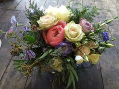 Peony and Scabious