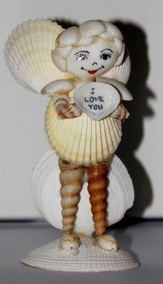 sea shell angel funny funky ILOVEU statue decor shells sculpture FIGURINE 1 pcs  #Unbranded #Angel
