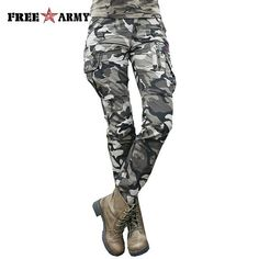 Women's Camouflage Cargo Pants