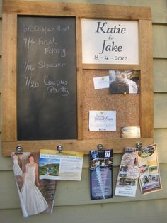 Wedding Chalkboard And Cork Board Special Day Showers Knight