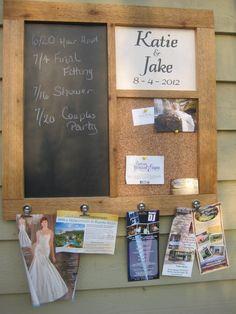 Wedding Chalkboard and cork board