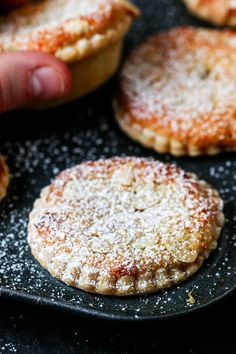 The best mince pies are these Frangipane Mince Pies with homemade pastry - serve warm or cold for a delicious traditional Christmas snack. Christmas Snacks, Xmas Food, Christmas Cooking, Christmas Cakes, Christmas Hamper, Christmas Entertaining, Christmas Goodies, Christmas Christmas, Best Mince Pies
