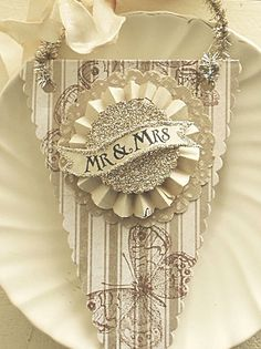 "Etsy Transaction - Wedding Decoration ""Mr. & Mrs. Pennant / Banner Card, Gift Tag or Wedding / Shower"