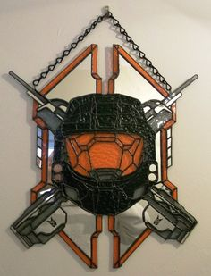 This is pretty sick, Halo stained glass.