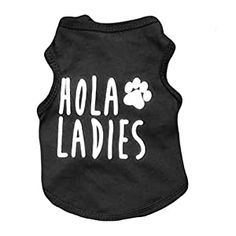 Ollypet Cool Dog Shirt Black Clothes for Small Pets Cats Boy Funny Clothing Hola Ladies Summer Teacup Apparel Top M - Dog Store Boy Dog Clothes, Small Dog Clothes, Black Clothes, Boy Clothing, Cute Black Shirts, Funny Outfits, Dog Outfits, Dog Shirt, Small Dogs