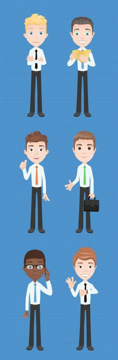 Free Vector Business Characters, or Pay Small Fee for Even More #website #graphics #design