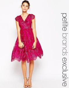 Browse online for the newest Chi Chi London Petite Metallic Lace Full Prom Dress styles. Shop easier with ASOS' multiple payments and return options (Ts&Cs apply). Modest Dresses, Nice Dresses, Short Dresses, Prom Dresses, Chi Chi London Petite, Magenta, White Wrap Dress, Lace Wrap, Moda Formal
