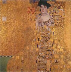 Gustave Klimt, Adele Bloch Bauer I, 1907. Olieverf, zilver en goud op doek, 138 x 138 cm. Neue Galerie, New York