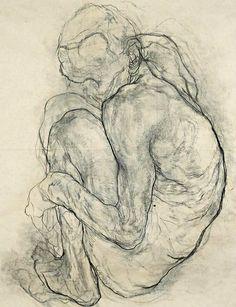 sculppp: De Cock Koen, Ivan, charcoal on paper Anatomy Sketches, Anatomy Drawing, Anatomy Art, Drawing Sketches, Art Drawings, Figure Sketching, Figure Drawing, Figure Painting, Painting & Drawing